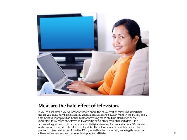 Measure the halo effect of television. If you're a marketer, you've probably heard about the halo effect of television adv...