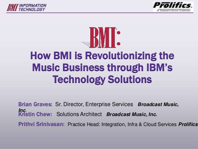 How bmi is revolutionizing the music business using ibm's