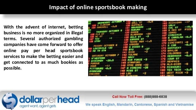 Book making software betting on sports