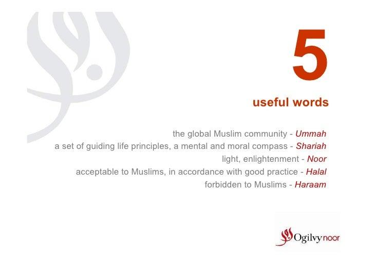 5                                                     useful words                                  the global Muslim comm...