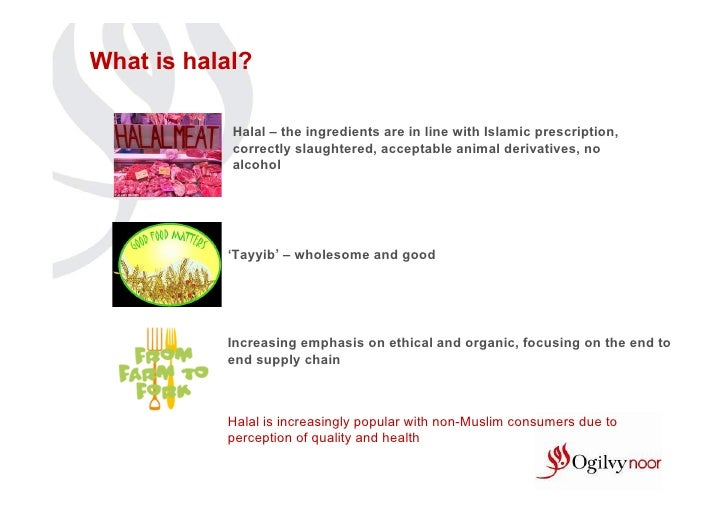 What is halal?            Halal – the ingredients are in line with Islamic prescription,            correctly slaughtered,...