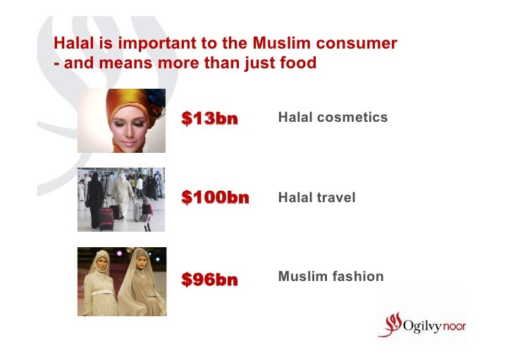 Halal is important to the Muslim consumer- and means more than just food               $13bn      Halal cosmetics         ...