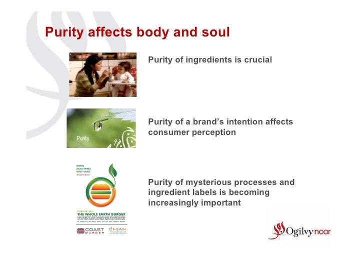 Purity affects body and soul               Purity of ingredients is crucial               Purity of a brand's intention af...