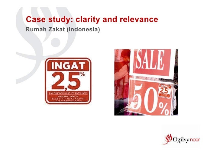 Case study: clarity and relevanceRumah Zakat (Indonesia)