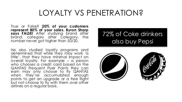 LOYALTY VS PENETRATION? True or False? 20% of your customers represent 80% of your sales. Byron Sharp says FALSE! After st...