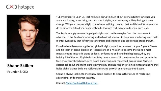 """Shane Skillen Founder & CEO """"Uberification"""" is upon us. Technology is disrupting just about every industry. Whether you ar..."""