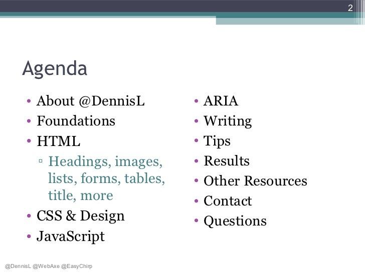 How To Build An Accessible Web Application - a11yBos Slide 2