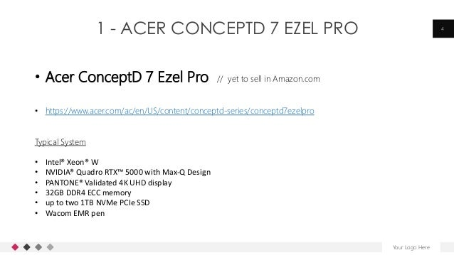 1 - ACER CONCEPTD 7 EZEL PRO Your Logo Here 4 • Acer ConceptD 7 Ezel Pro // yet to sell in Amazon.com • https://www.acer.c...
