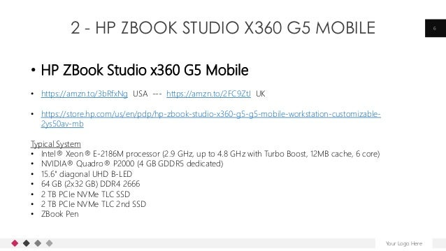 2 - HP ZBOOK STUDIO X360 G5 MOBILE Your Logo Here 6 • HP ZBook Studio x360 G5 Mobile • https://amzn.to/3bRfxNg USA --- htt...