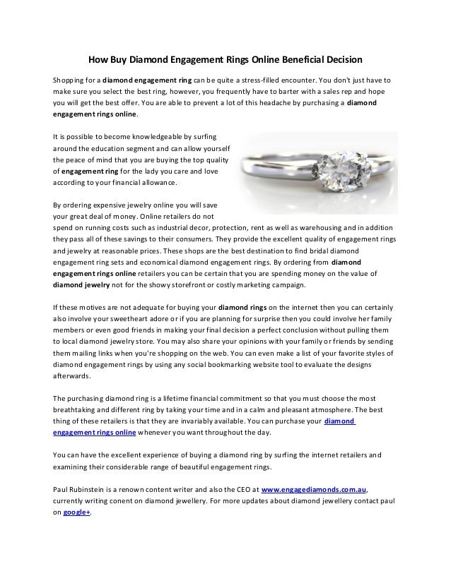 How Buy Diamond Engagement Rings Online Beneficial Decision
