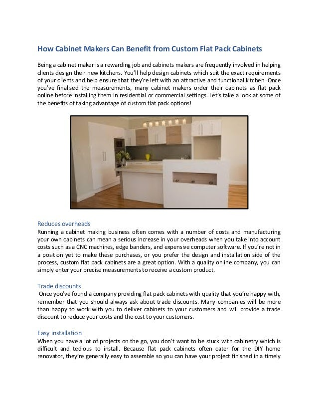 Awesome How Cabinet Makers Can Benefit From Custom Flat Pack Cabinets Download Free Architecture Designs Pendunizatbritishbridgeorg
