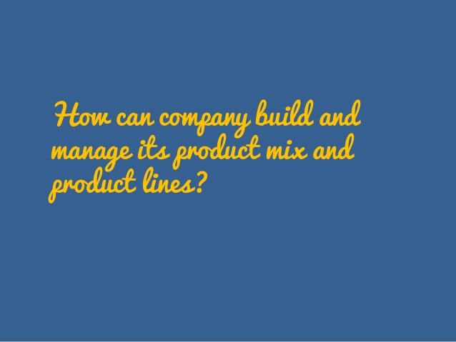 Marketing Mix | Product in Four P's