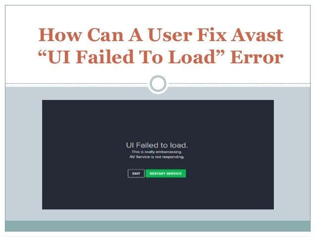 avast failed to load windows 10