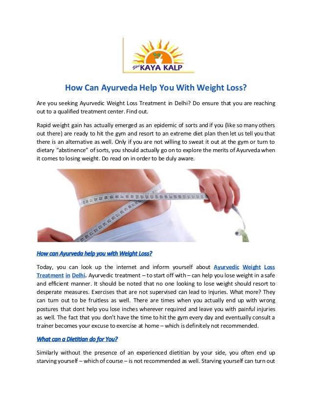 How can ayurveda help you with weight loss ayurvedadoctor net