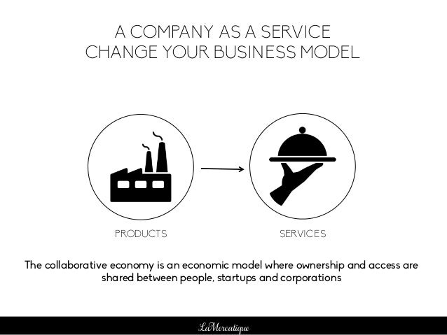 LaMercatique A COMPANY AS A SERVICE CHANGE YOUR BUSINESS MODEL PRODUCTS SERVICES The collaborative economy is an economic ...