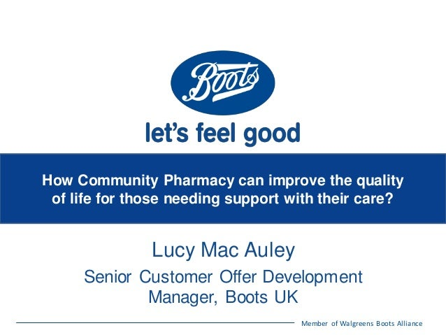 How can community pharmacy improve the quality of life for