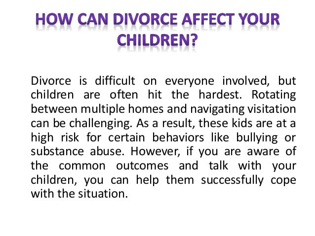 young children and divorce With this in mind, it is important to consider how does divorce affect children one of the most important things to consider is the age of the child when discussing divorce, especially with young children this article offers insight into how to discuss divorce with children and some resources that may be helpful to parents who.