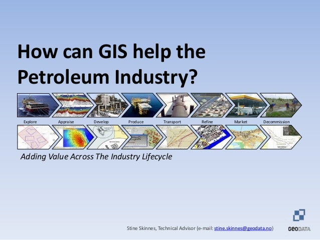 How can GIS help the Petroleum Industry? Stine Skinnes, Technical Advisor (e-mail: stine.skinnes@geodata.no) Explore Devel...
