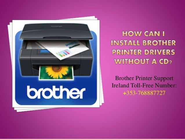 How can i install brother printer drivers without a cd