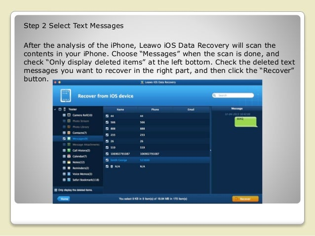 How Can I Recover Deleted Text Messages from iPhone