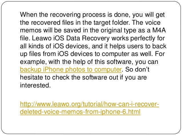 How Can I Recover Deleted Voice Memos from iPhone 6