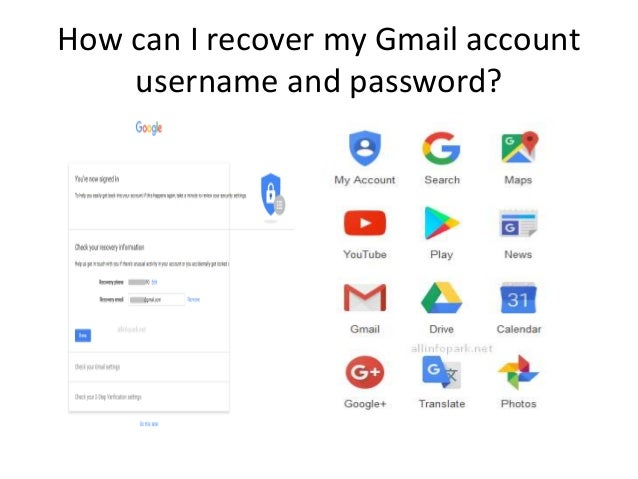 How Can I Recover My Gmail Account Username And Password How