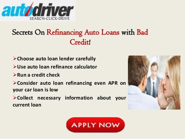 How to refinance car loan with bad credit