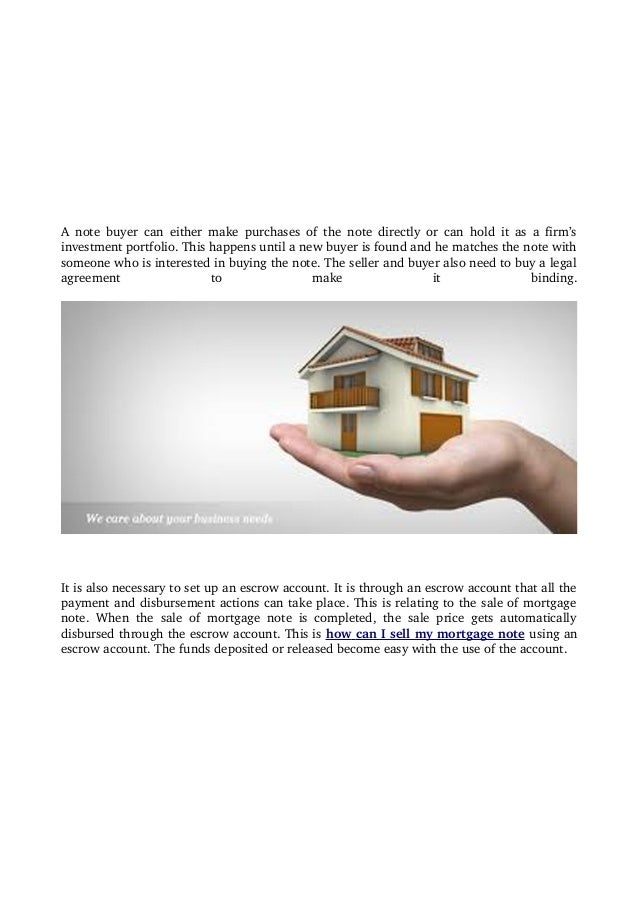 How Can I Sell My Mortgage Note