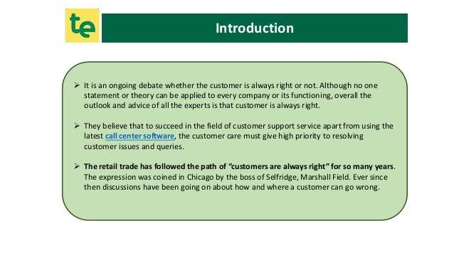 customer is always right debate