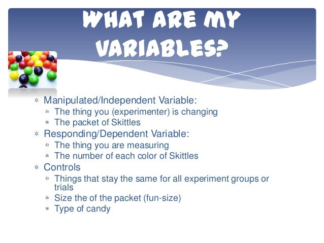 variables in a science project Jvc's science fair projects: variables: independent, dependent, controlled about the author suzy kerr graduated from grady school of journalism and mass communications at the university of georgia.