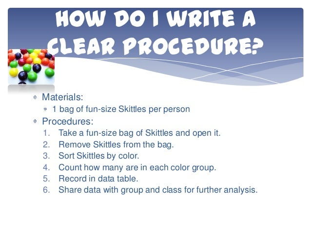 writing a experimental procedure