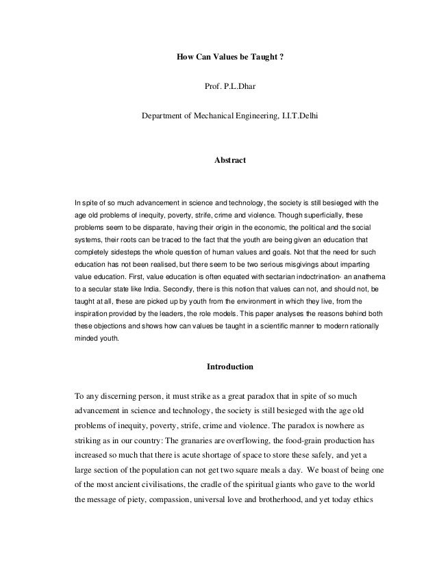 values essay papers