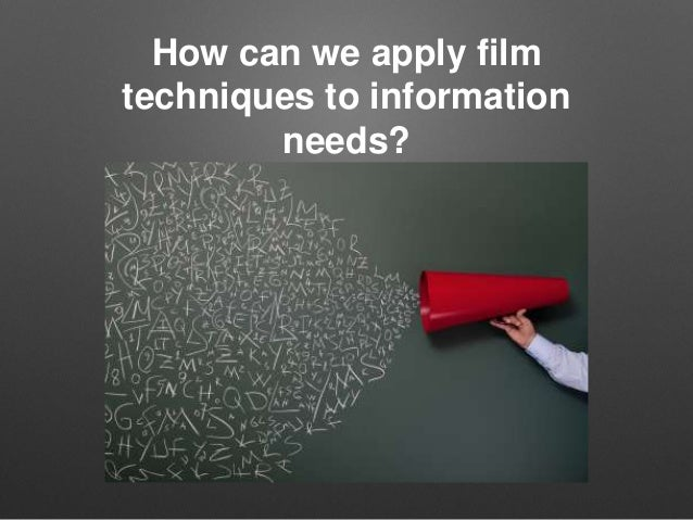 english film techniques English film techniques june 28, 2017 in english we have been learning about film techniques, how they are used, why they are used, what they are used for and what effect they have on the audience/viewer.