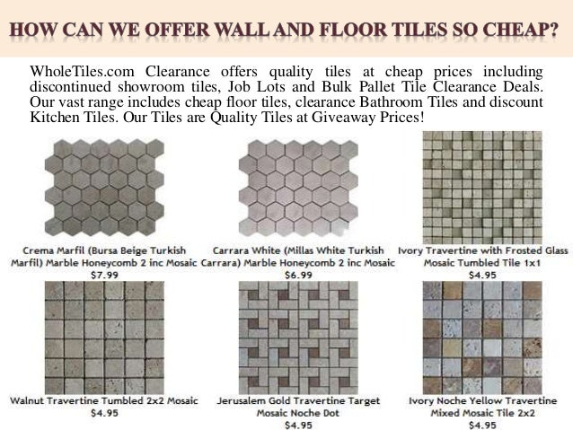 How Can We Offer Wall And Floor Tiles So Cheap