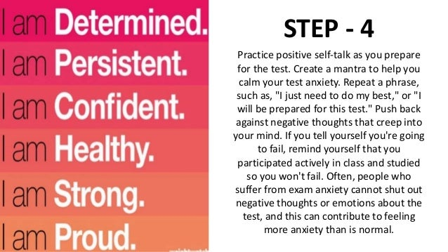 How can we overcome exam fear