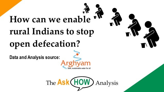 The Ask HOW Analysis How can we enable rural Indians to stop open defecation? Data and Analysis source:
