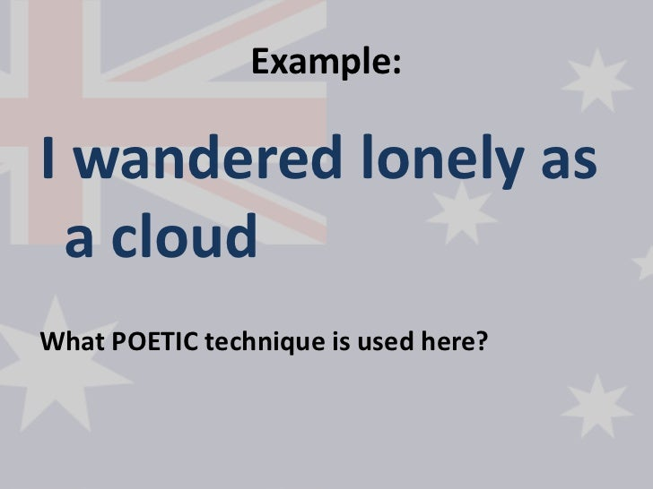 imagery in i wandered lonely as a cloud [i wandered lonely as a cloud] - i wandered lonely as a cloud the academy of american poets is the largest membership-based nonprofit organization fostering an appreciation for contemporary poetry and supporting american poets.
