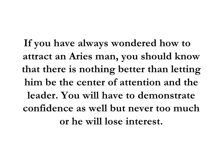 Things to know before dating an aries man