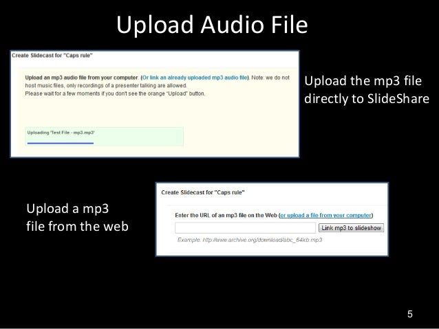 How can you add Audio files to Presentations