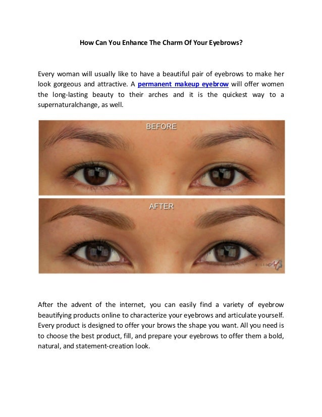 How Can You Enhance The Charm Of Your Eyebrows