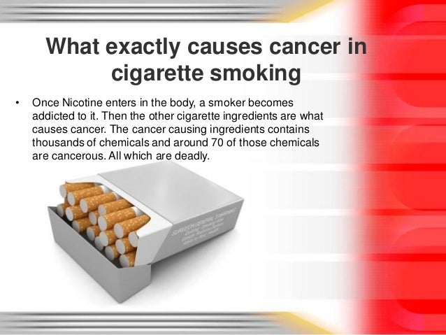 how cigarette smoke causes cancer