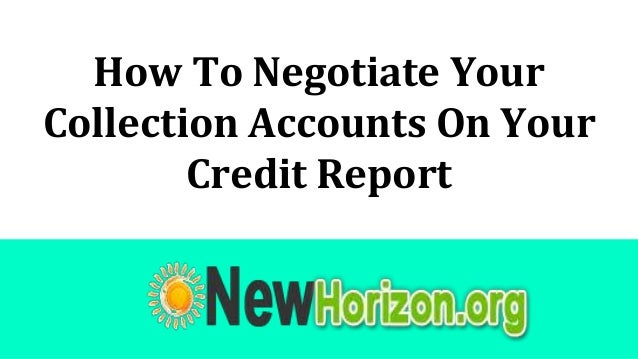 how to pay collections on credit report