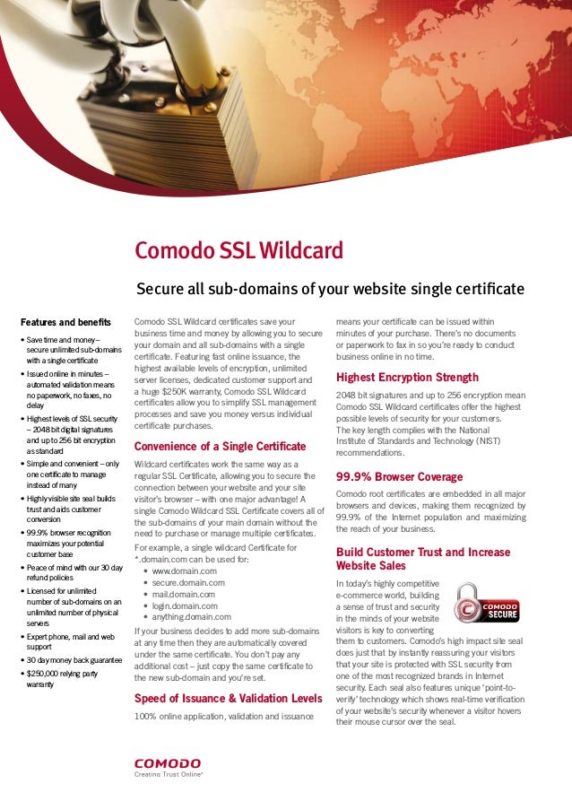 How Comodo Wildcard Ssl Is Secure All The Sub Domain In A Single Cert