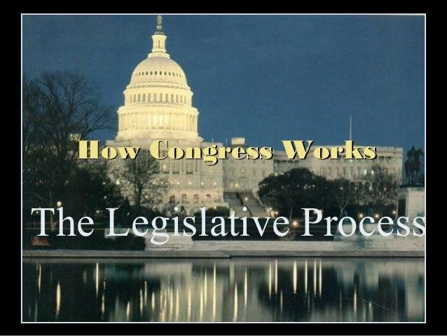 How Congress Works  The Legislative Process