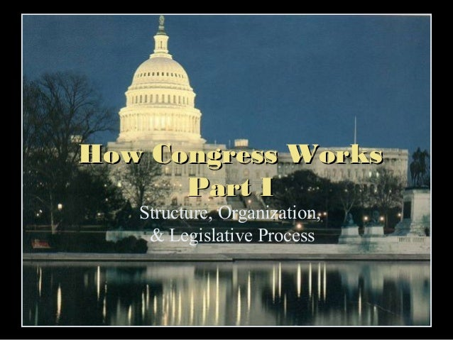 How Congress Works Part I Structure, Organization, & Legislative Process