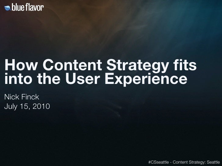 How content strategy fits into the user experience