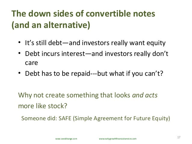 ... 17. The Down Sides Of Convertible Notes ...