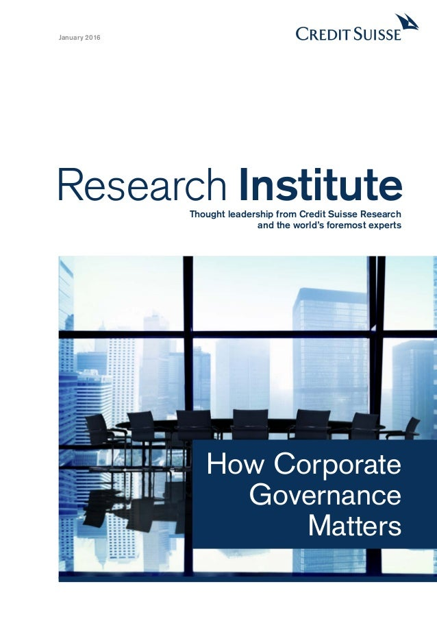 dissertation proposals on corporate governance The impact of corporate governance on the performance of financial institutions gëzim tosuni a thesis submitted in partial fulfilment of the requirements of.
