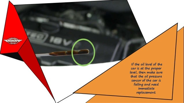 How could you Determine the Failed Oil Pressure Sensor of Car