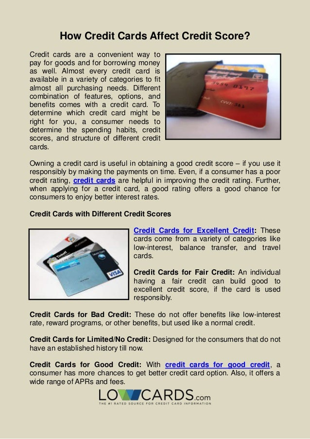 Credit Cards For Fair Credit >> How Credit Cards Affect Credit Score